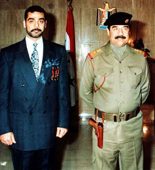 Saddam and his son Uday