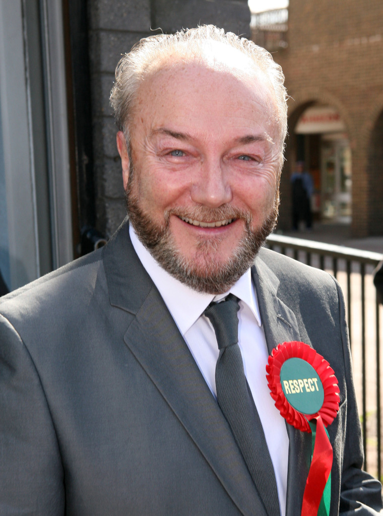 Respect candidate George Galloway canvassing in Poplar, London, Britain - 08 Apr 2010