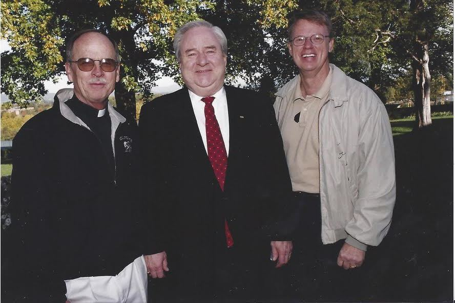 Mel White pictured with Jerry Falwell and husband Gary Nixon